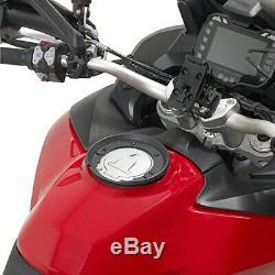 Givi ST603B 15 Litre Motorcycle Tank Bag & BF11 Tank Ring Flange Black