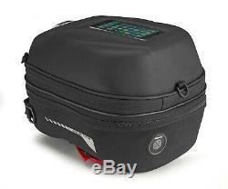 Givi ST603B 15 Litre Motorcycle Tank Bag & BF22 Tank Ring Flange Black