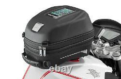 Givi ST603B 15 Litre Motorcycle Tank Bag & BF29 Tank Ring Flange Black