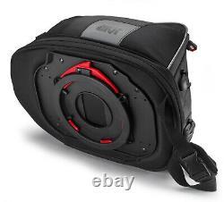 Givi XS307 15 Litre Motorbike Motorcycle Tank Bag & BF02 Ring Flange Black