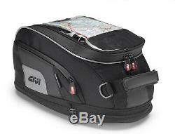Givi XS307 15 Litre Motorbike Motorcycle Tank Bag & BF18 Ring Flange Black