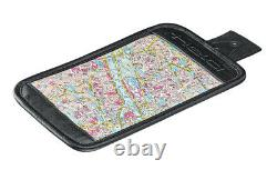 -HELD- Canvas Black Grey 4 Litre Motorcycle Tank Bag With Map Compartment