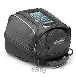 Kappa Black Motorcycle Shoulder Strap Expandable Waterproof Tanklock Bag 5 L