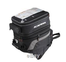 Kappa LH201 Motorcycle Motorbike Magnetic Tank Bag, Expandable 30 to 40 ltr