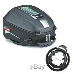 Kawasaki Ninja H2 SX from Yr 18 Motorcycle Tank Bag Set Givi St602 + Ring