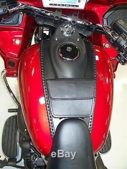 Leather Motorcycle Tank Bib For Kawasaki Voyager