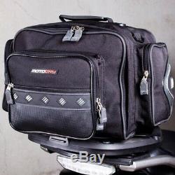 MotoDry Black Pack Adventure Motorcycle Luggage Cruiser Rear Tail Bag