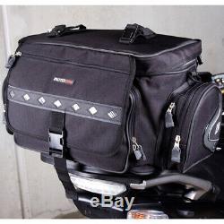 MotoDry NEW Expandable 50L Black Road Adventure Luggage Motorcycle Rear Tail