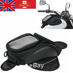 Motorcycle 4 Magnetic Oil Fuel Tank Bag Motorbike Luggage Saddle Bag Waterproof