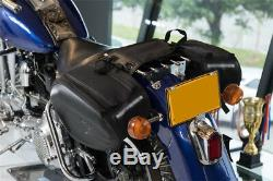 Motorcycle Bike Sport Luggage Tail Box Tank Saddle Bag Gear Case with Rain Cover