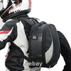 Motorcycle Bike Tail Bag Rear Seat Fuel Tank Bag Backpack Crossbody Helmet Bag