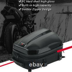 Motorcycle Helmet Storage Bag Waterproof Tail Tank Bag Rear Seat Pack Saddle