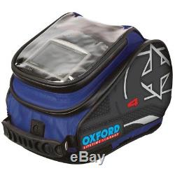 Motorcycle Oxford Luggage Tail pack 4L Motorbike Tank Bag X4 Quick Release Blue