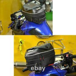 Motorcycle Release Buckle Fuel Tank Bag PVC Hard Shell Shoulder Bag Backpack