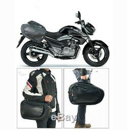 Motorcycle Saddle Bag Luggage Helmet Tank Bag 36-58L Large Size with Rain Cover