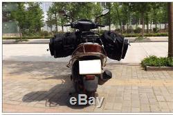 Motorcycle Saddle Bags Luggage Pannier Waterproof Helmet Tank Bags 36-58L Black