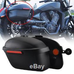 Motorcycle Side Boxs Luggage Tank Hard Case Saddle Bags Cruiser For Honda VT 400