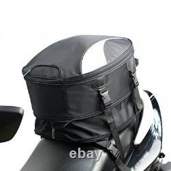 Motorcycle Tail Bag Rear Seat Fuel Tank Storage Bag Rider Backpack Helmet Pack