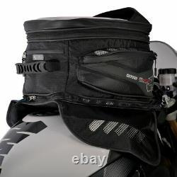 Motorcycle Tank Bag Oxford M40R 40L Magnetic Waterproof + Rain Cover Black