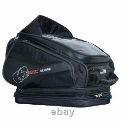 Motorcycle Tank Bag Oxford Q20R Quick Release 20 Litre Lightweight Black