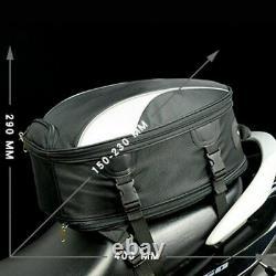 Multi-function Motorcycle Tail Rear Seat Fuel Tank Bag Helmet Backpack Crossbody