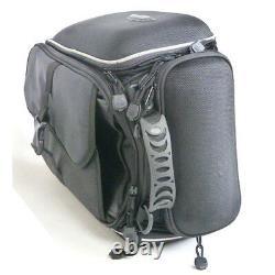 New Motorcycle Bike Tank Bag Tail Box Saddle Black with Magnetic Mounting Black