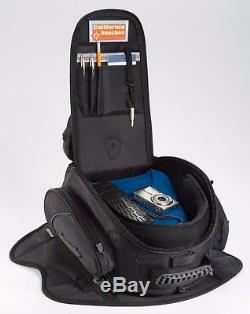 New Tourmaster Elite 3 in 1 Magnetic Mount Tank Bag Back Pack Rain Cover GPS