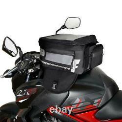 Oxford F-1 Magnetic Large Motorcycle Motorbike Tank Bag Black / Grey 35L