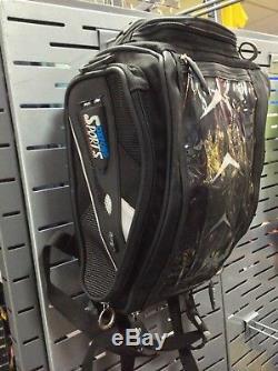 Oxford Hump Back Tank Bag/Rucksack Motorcycle / Motorbike Luggage +Magnetic base