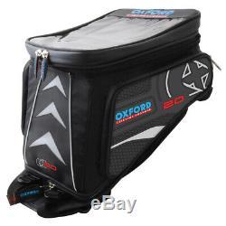 Oxford Lifetime X20 QR Quick Release Motorcycle Motorbike Tank Bag Black OL236