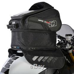 Oxford M30R Black Moto Motorcycle Velcro Fixing Lightweight Magnetic Tank Bag