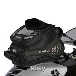 Oxford M4R Motorcycle Motorbike Tank N Tailer Bag Black