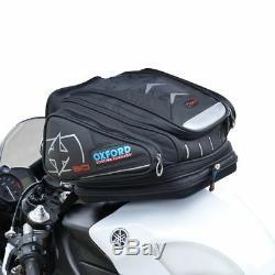 Oxford Motorbike/Motorcycle X30 QR Quick Release Tank Bag Luggage Black OL266