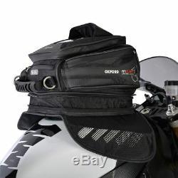 Oxford Motorcycle Bike M15R Magnetic Tank Bag Convert into Backpack 15L- BLACK