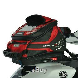 Oxford Motorcycle Bike Q4R Quick Release QR Tank Bag 4 Litre Capacity Red OL291