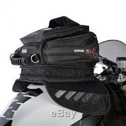 Oxford OL221 M15R Magnetic Motorcycle Tank Bag Black 15 Litres