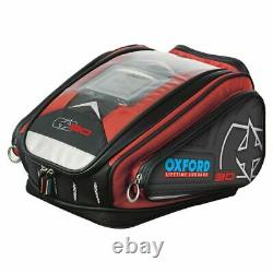Oxford OL267 X30 QR Motorcycle Motorbike Quick Release Tank Bag Luggage Red