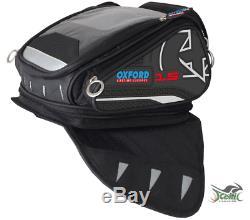 Oxford X15 QR Tank Bag Black Motorbike Motorcycle OL226