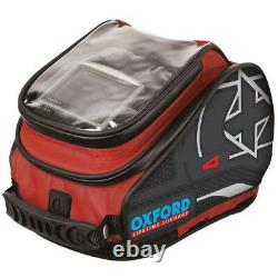 Oxford X4 Motorcycle Mototbike QR Tank Bag / Tailpack Red