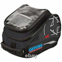 Oxford X4 QR Quick Release Motorcycle Tank Bag Black 4L