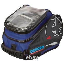 Oxford X4 Quick Release Motorcycle Motorbike Tank Bag Tank Pack Blue (OL277)