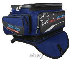 Oxford X40 Lifetime Motorcycle Magnetic Tank Bag 40L Blue