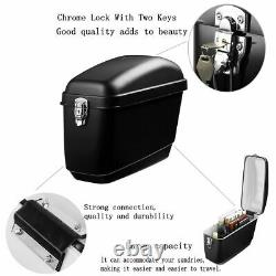 Pair Motorcycle Side Box Luggage Tank Hard Case Saddle Bag Panniers Universal