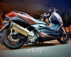 Rear Universal Air Ride Kit Shock 300,345mm Bag Suspension Motorcycle WithAir Tank