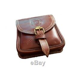 Royal Enfield Leather Magnetic Motorcycle Fuel Tank ToolBox Bag / Pouch Carrybag