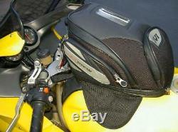 T486 Givi motorcycle magnetic tank bag 9-21 liter size, straps for plastic tanks