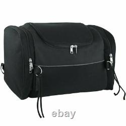 Trunk Bag Textile Motorcycle WithExpandable Reflective Sides Bar Luggage Travel