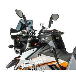 Tusk Olympus Tank Bag Black/Grey Small Motorcycle Dual Sport Enduro Adventure