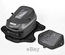 Universal Motorcycle Expandable Bundled Fuel bag Tank Bag Box GPS Phone Holder