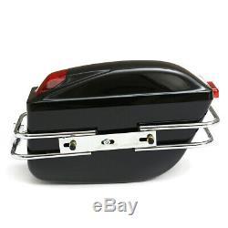 Universal Motorcycle Side Boxes Luggage Bag Tank Hard Case Saddle Bags Cruiser